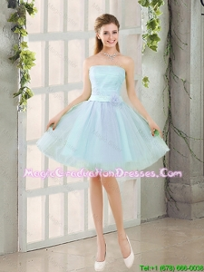 2016 Custom Made A Line Strapless Short Graduation Dresses