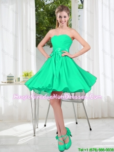 A Line Sweetheart Belt Graduation Dresses for Party