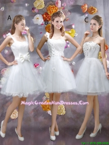 Sophisticated Appliques White Graduation Dresses with Mini Length