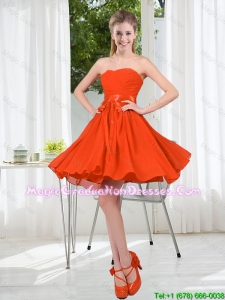 Custom Made Sweetheart Short Graduation Dress with Belt