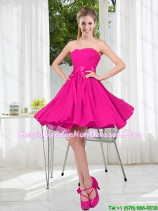 Custom Made Sweetheart Short Graduation Dress with Bowknot