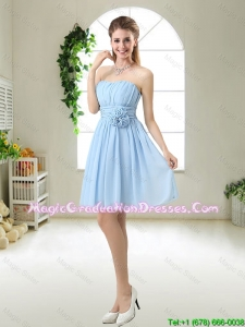 Perfect Strapless Graduation Dresses with Hand Made Flowers
