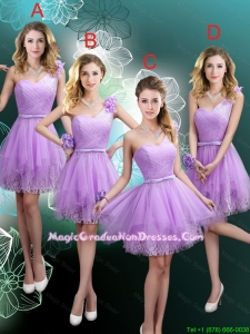 Cheap Hand Made Flowers Graduation Dresses with One Shoulder