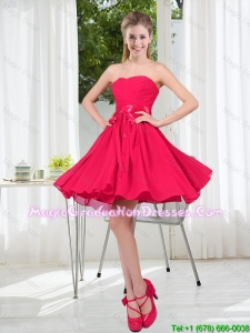 Custom Made A Line Sweetheart Graduation Dress in Chiffon