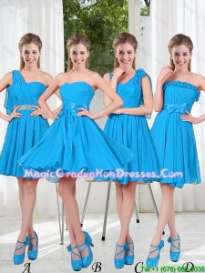 Exclusive 2016 Graduation Dresses with Ruching in Blue