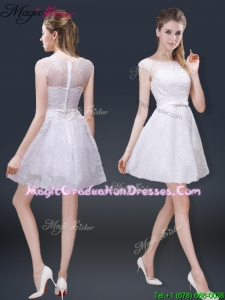 2016 Fall Lovely Cap Sleeves Graduation Dresses with with in Lace