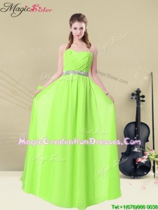 2016 The Super Hot Sweetheart Empire Ruching Graduation Dresses