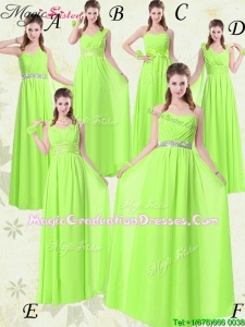 Wonderful Floor Length Empire Ruching Graduation Dresses for Summer