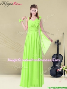 Elegant Floor Length Straps Belt Best Graduation Dresses for Summer