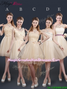 Sweet Short Fashionable Graduation Dresses with Appliques and Belt