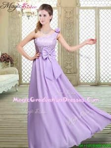 2016 Spring High Neck Lace Lavender Romantic Graduation Dresses