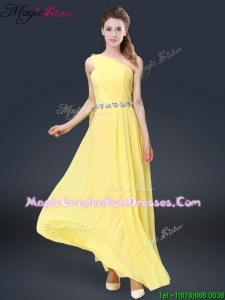 Pretty Floor Length Gorgeous Graduation Dresses with Belt