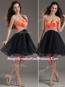 Low Price Princess Sweetheart Graduation Dress with Appliques