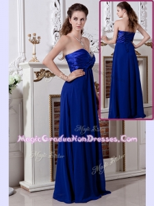 Luxurious Empire Sweetheart Long Prom Dress in Royal Blue