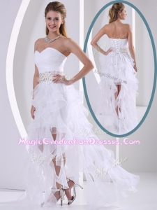 New Arrivals Sweetheart Asymmetrical Beading Graduation Dresses with Cocktail