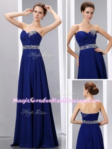 Romantic Empire Sweetheart Graduation Dress with Beading
