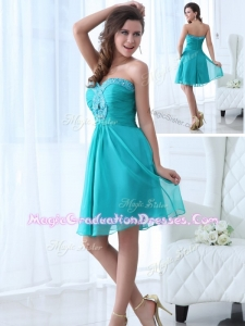 Beautiful Mini Length Sweetheart Beading Graduation Dress