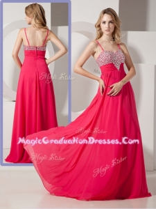 Brand New Style Spaghetti Straps Graduation Dresses with Beading