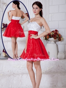 Simple Short Sweetheart Beading Graduation Dresses for Cocktail