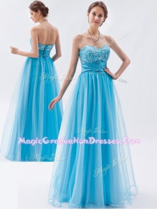Classical Empire Sweetheart Beading Graduation Dresses for Pageant