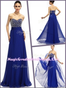Perfect Empire Sweetheart Graduation Dresses in Royal Blue