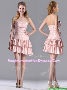 Low Price Ruffled Layers Short Graduation Dress in Asymmetrical