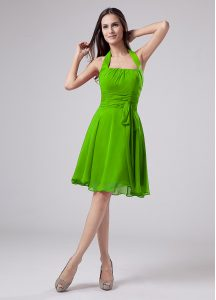Glorious Sleeveless Knee Length Ruching Zipper Graduation Dresses with