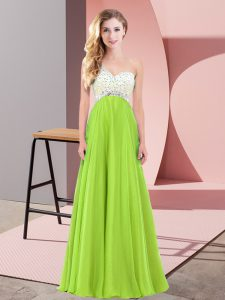 Graduation Dresses Prom and Party with Beading One Shoulder Sleeveless Lace Up