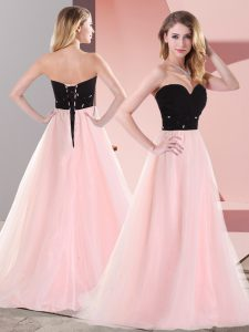 New Arrival Tulle Sleeveless Floor Length Graduation Dresses and Belt
