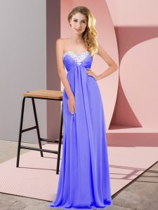 Customized Floor Length Lavender Graduation Dresses Sweetheart Sleeveless Lace Up
