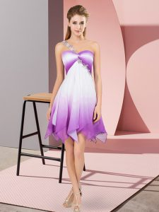 Multi-color Empire Beading Ball Gown Prom Dress Lace Up Fading Color Sleeveless Asymmetrical