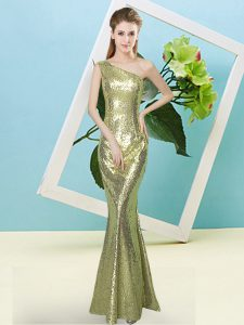 New Style Sequined Sleeveless Floor Length Ball Gown Prom Dress and Sequins