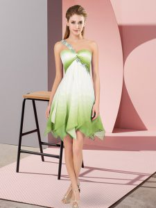 Asymmetrical Empire Sleeveless Multi-color Sweet 16 Dresses Lace Up