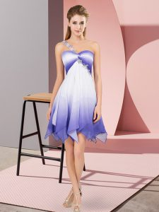 Gorgeous Sleeveless Fading Color Asymmetrical Lace Up Quinceanera Dresses in Multi-color with Beading