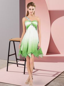 Beading Quinceanera Gowns Multi-color Lace Up Sleeveless Asymmetrical