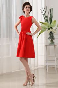 A-Line School Spring Party Dress Red Knee-length Taffeta Scoop Knee-length in Utah