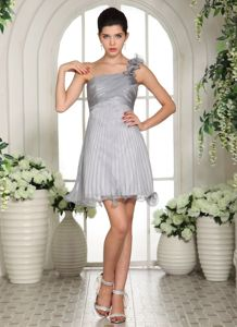 Ruching Organza In Mississippi One Shoulder School Autumn Party Dress from Utah