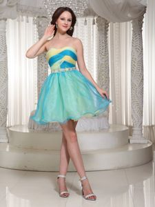 Mini-length Organza Beaded Decorate for Dress School Spring Party Dress from Austin