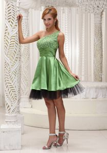 One Shoulder School Autumn Party Dress with Ruching In Mississippi in Harrisburg
