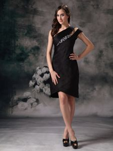 Beading Knee-length Brand Asymmetrical for School Spring Party Dress form Boise