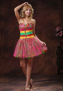 Colorful Sweetheart Beaded 5th Grade Graduation Dresses in Quincy IL