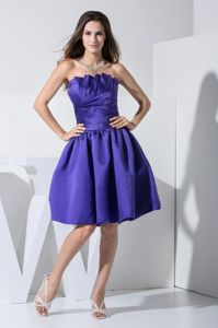 Ruched Purple Eighth Grade Graduation Dresses with Ruffles in Stuart