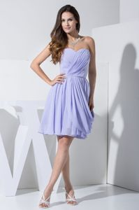 Ruched Sweetheart Chiffon Cheap Graduation Dresses with Pick-ups in Sanford