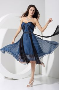 Pleated Sweetheart Graduation Ceremony Dresses with Bowknot in Lakeland