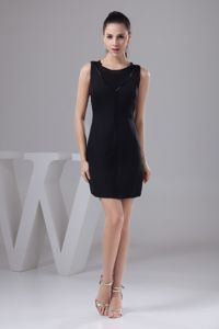 Black Scoop Mini-length Graduation Ceremony Dresses in Wilmington