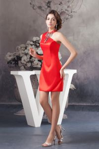 Mini-length Red Satin Graduation Ceremony Dresses in Gainesville FL