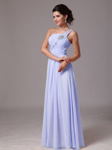 Beaded Lilac One Shoulder 5th Grade Graduation Dresses in Hermosa Beach