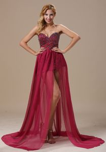 Sweetheart Beaded Chiffon University Graduation Dresses in Falls Church