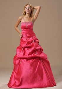 Elegant Coral Red Graduation Ceremony Dresses with Appliques in Hampton