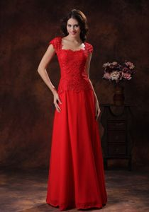 Red Lace Gorgeous Graduation Dress For Middle School in Flagstaff Arizona